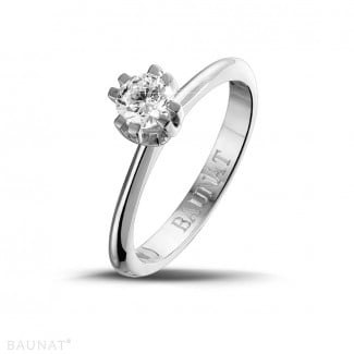 - 0.50 carat solitaire diamond design ring in platinum with eight prongs