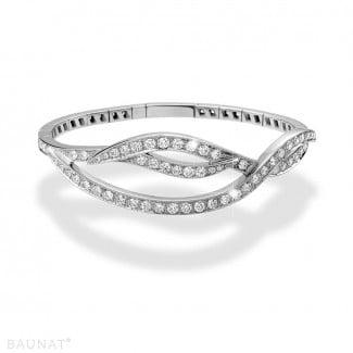 Bracelets - 3.32 carat diamond design bracelet in white gold