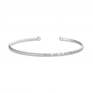 Bestsellers - 0.75 carat diamond bangle in white gold