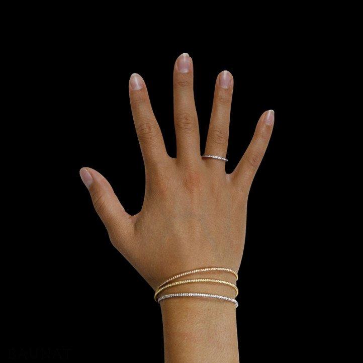0.75 carat diamond bangle in yellow gold