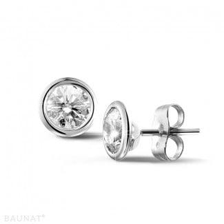 1.50 carat diamond satellite earrings in white gold