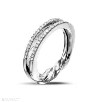 Pas-de-Deux - 0.26 carat diamond design ring in white gold