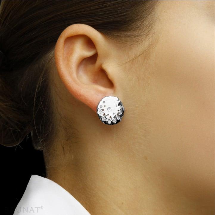 0.26 carat diamond design earrings in white gold