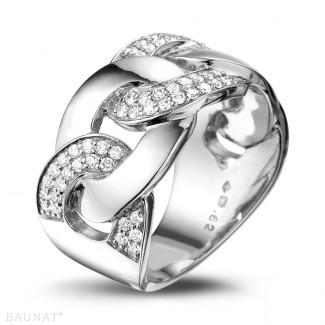 Originality - 0.60 carat diamond gourmet ring in platinum