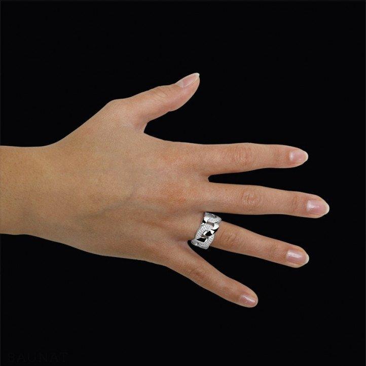 0.60 carat diamond gourmet ring in platinum