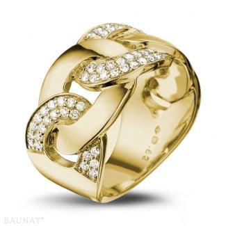 Originality - 0.60 carat diamond gourmet ring in yellow gold