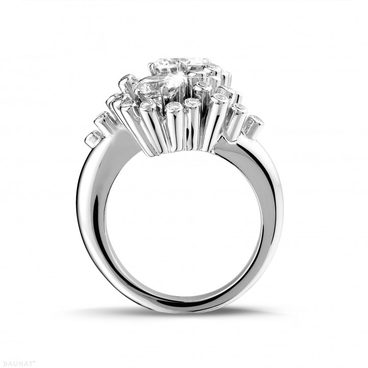 1.50 carat diamond Toi et Moi design ring in white gold