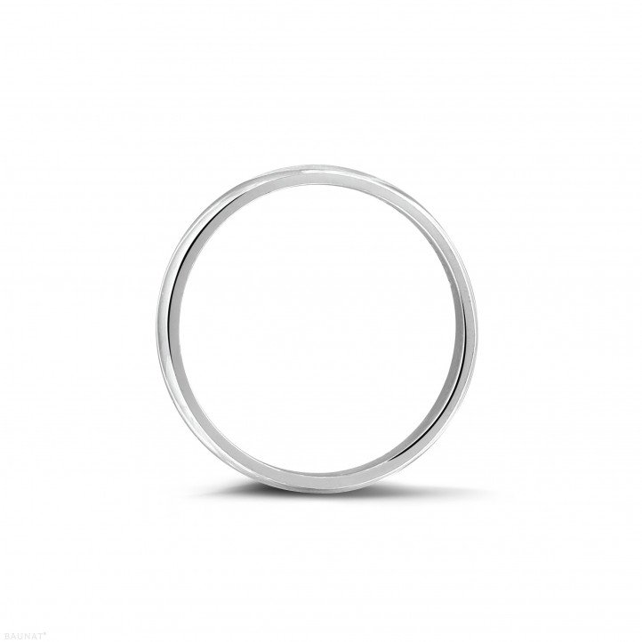 Men's ring with a slightly domed surface of 5.00 mm in platinum