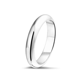 Men's ring with a domed surface of 5.00 mm in platinum