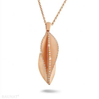 - 0.40 carat diamond design pendant in red gold