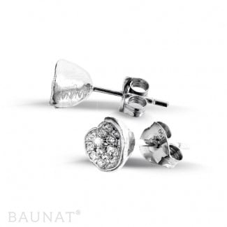 Stud earrings - 0.25 carat diamond design earrings in white gold