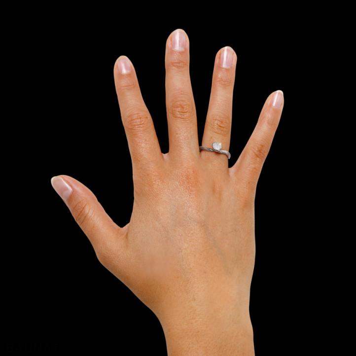 0.12 carat diamond design ring in white gold