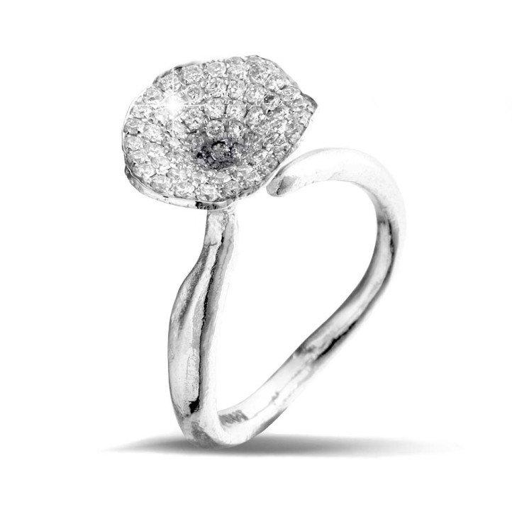0.54 carat diamond design ring in white gold