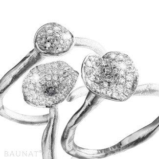 White Gold Diamond Rings - Matching diamond design rings in white gold
