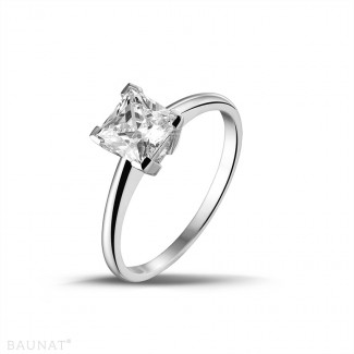 1.25 carat solitaire ring in platinum with princess diamond