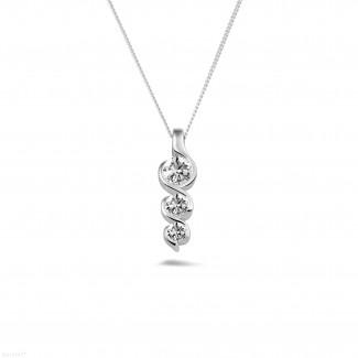 - 0.57 carat trilogy diamond pendant in white gold