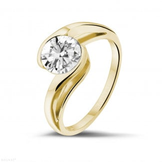 Classics - 1.25 carat solitaire diamond ring in yellow gold