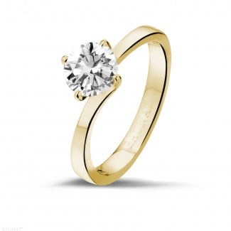 Classics - 1.00 carat solitaire diamond ring in yellow gold