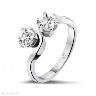Classics - 1.00 carat diamond Toi et Moi ring in platinum