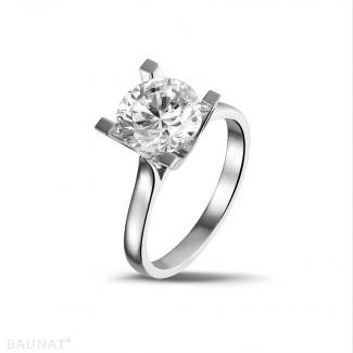 2.50 carat solitaire diamond ring in platinum