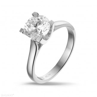 1.50 carat solitaire diamond ring in platinum