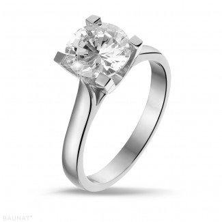 2.00 carat solitaire diamond ring in platinum