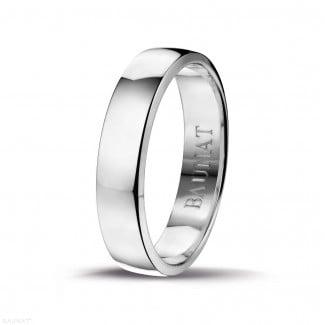 鑽石結婚戒指 - 男士白金戒指寬度為5.00毫米