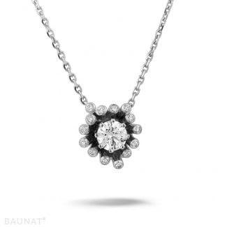 鑽石項鍊 - 設計系列 0.75克拉白金鑽石吊墜項鍊