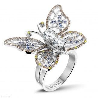 Monarca - 設計系列2.00克拉白金鑽石蝴蝶戒指