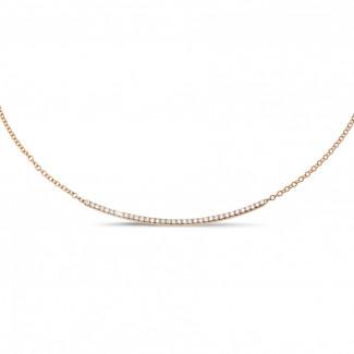 鑽石項鍊 - 0.30克拉玫瑰金鑽石項鍊