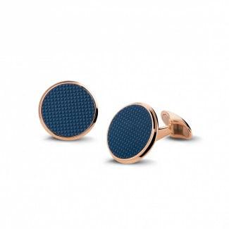 鑽石抽扣 - 玫瑰金石英石袖扣– clou de Paris