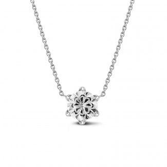 鑽石項鍊 - BAUNAT Iconic 系列 1.00克拉白金圓鑽吊墜項鍊