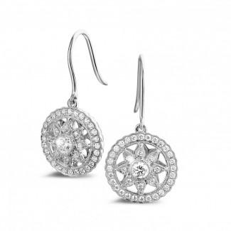 圆形钻石耳环 - 0 .50 克拉白金鑽石耳環