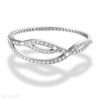 女士手鍊 - 設計系列2.43克拉白金鑽石手鐲