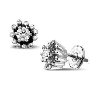 耳釘 - 設計系列0.50 克拉白金鑽石耳釘