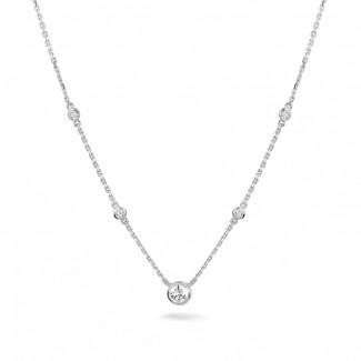 鑽石項鍊 - 0.45 克拉白金鑽石吊墜項鍊