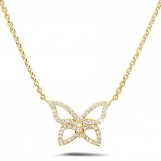 鑽石項鍊 - 設計系列0.30克拉鑽石黃金項鍊