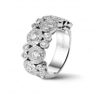 鑽石戒指 - 1.80 克拉白金鑽石戒指