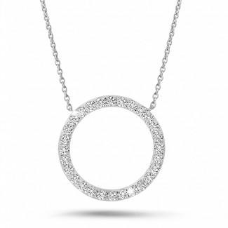 新品 - 0.54克拉白金永恆滿鑽項鍊