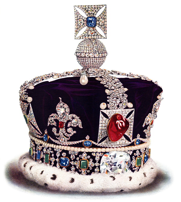 British crown containing the Cullinan diamond, cut in Amsterdam - BAUNAT