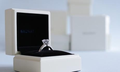 Stored safely in a box, the best way to protect your diamond jewellery collection. BAUNAT