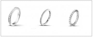 Focus on diamond wedding bands
