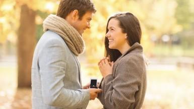 The marriage proposal: getting on your knee with an engagement ring