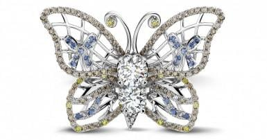 Diamond rings inspired by the animal kingdom