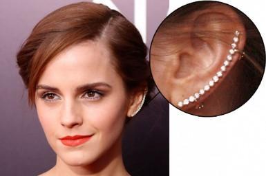 Diamond ear cuffs