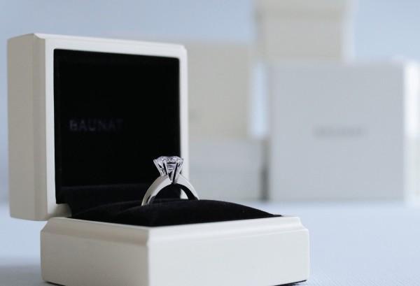 欣赏我们的求婚戒指