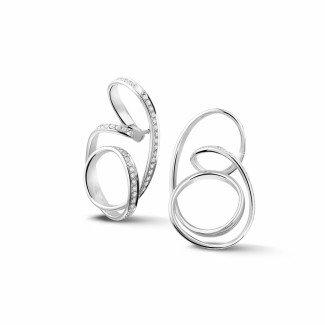 白金钻石耳环 - 设计系列1.50克拉白金密镶钻石耳环