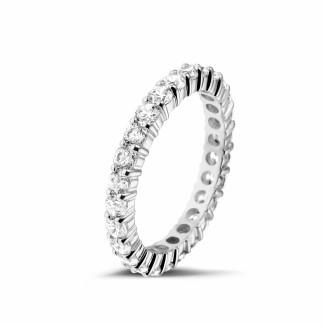 圆形钻石婚戒 - 1.56克拉白金钻石永恒戒指
