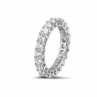 铂金钻石结婚戒指 - 2.30克拉铂金钻石永恒戒指