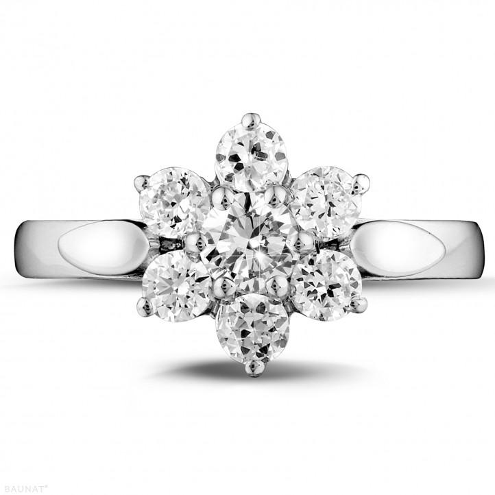 花之恋1.00克拉铂金钻石戒指